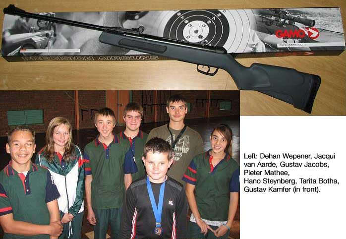 GunSite SA donated 5 GAMO Air Rifles to PHS Air Rifle Club