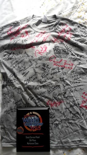 Signed IDPA world shoot shirt